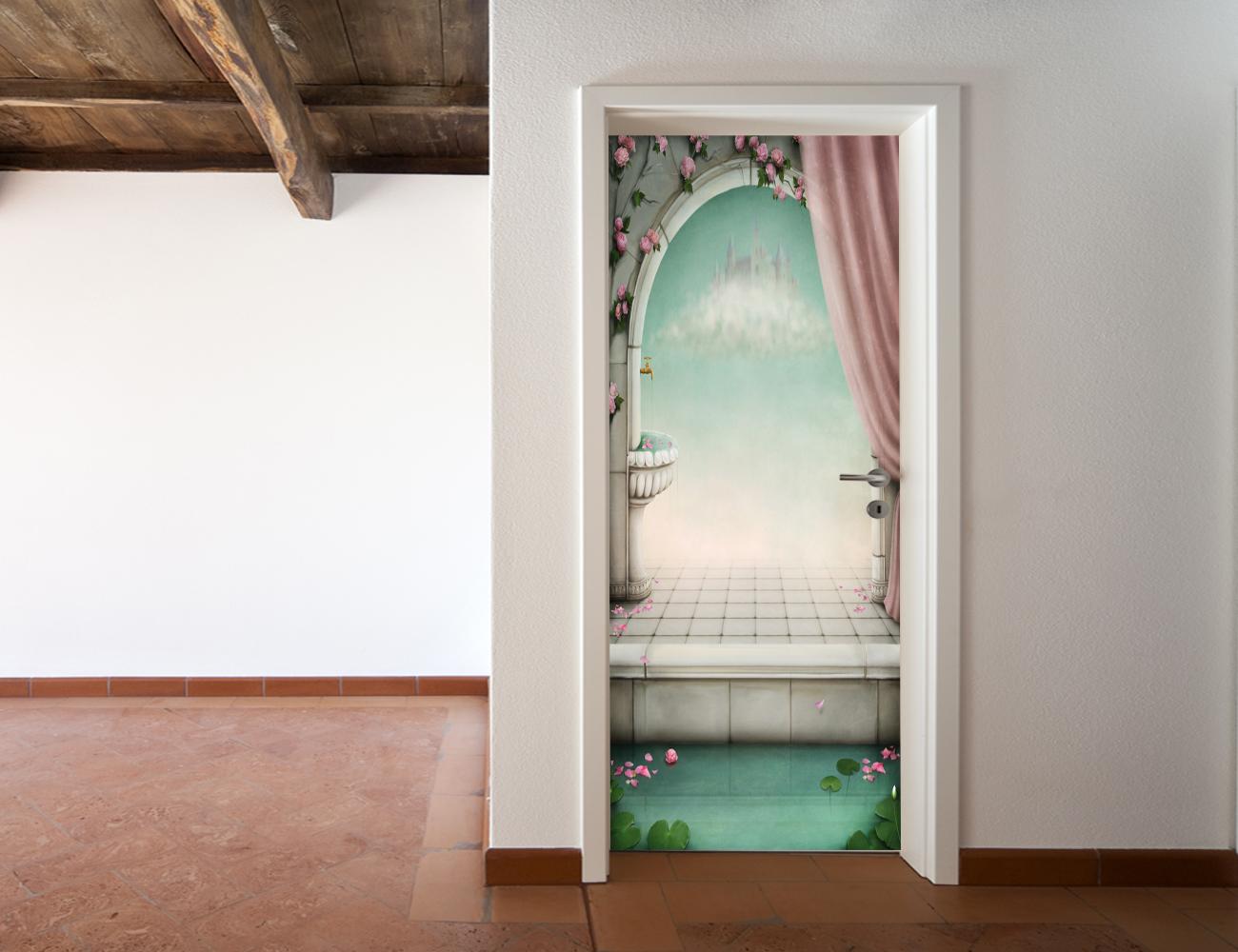 Adesivi follia adesivo per porte fantasia - Adesivi decorativi per porte ...