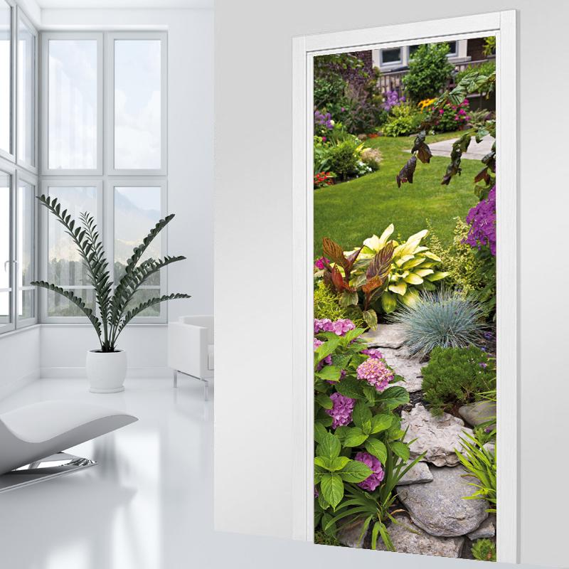 Adesivi follia adesivo per porte giardino - Adesivi decorativi per porte ...