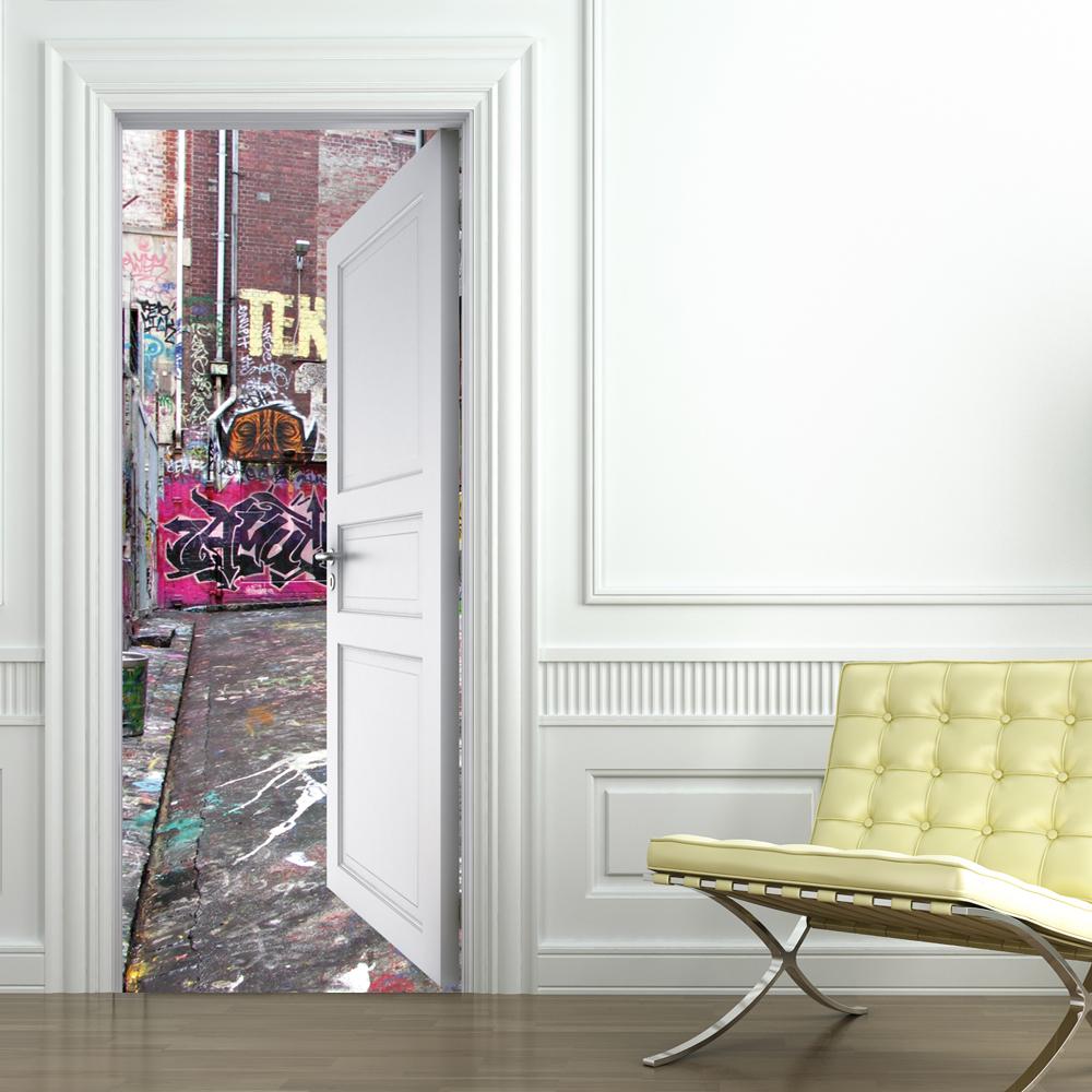 Adesivi follia adesivo per porte graffiti - Adesivi decorativi per porte ...