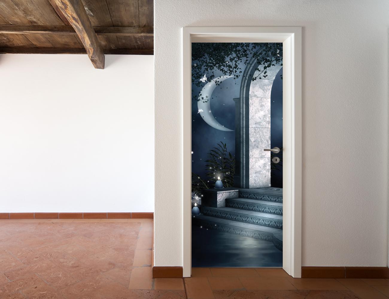 Adesivi follia adesivo per porte luna - Adesivi decorativi per porte ...