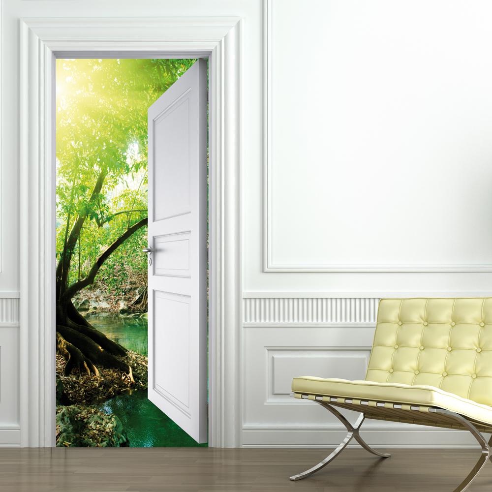 Adesivi follia adesivo per porte natura - Porte decorate adesivi ...