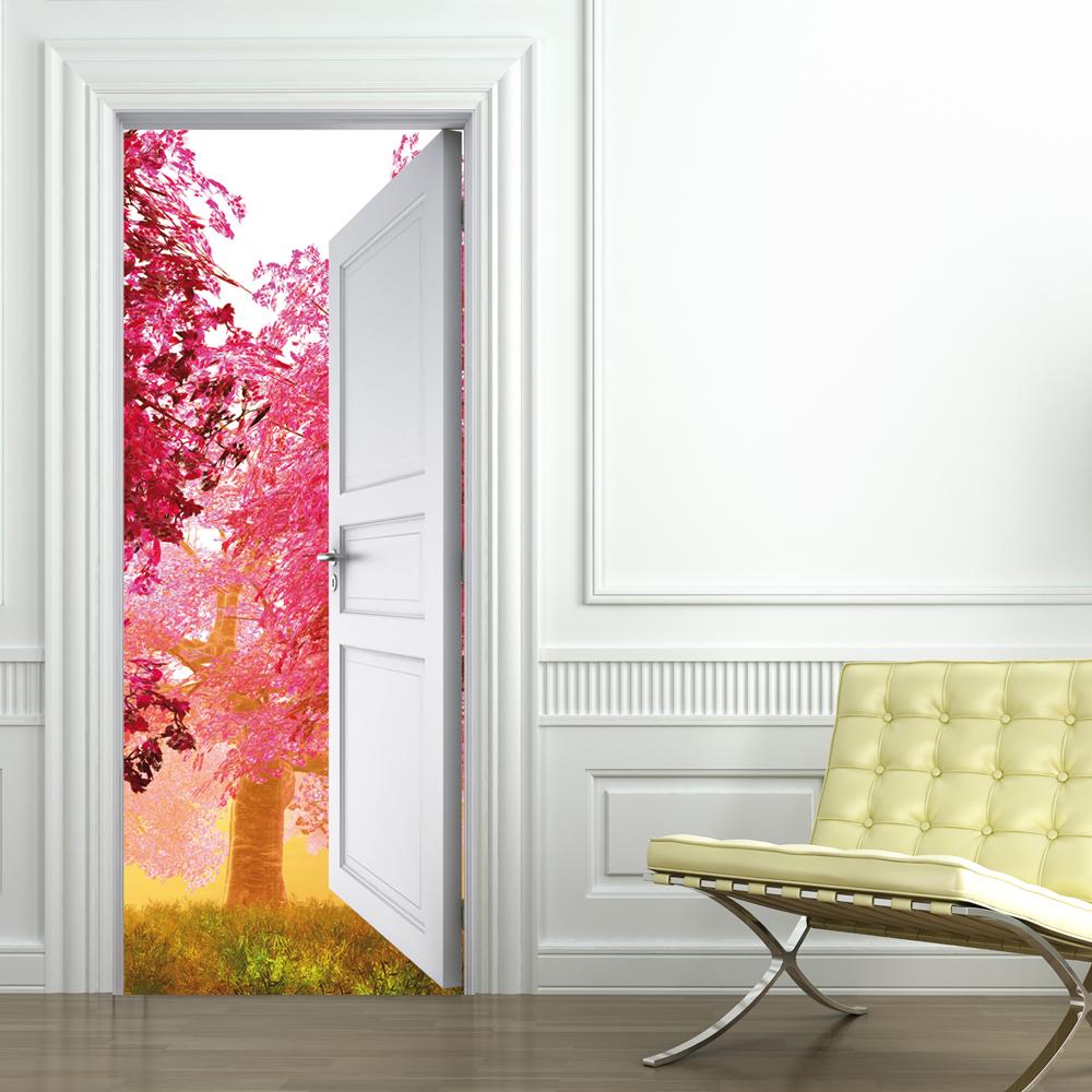 Adesivi follia adesivo per porte natura - Adesivi decorativi per porte ...