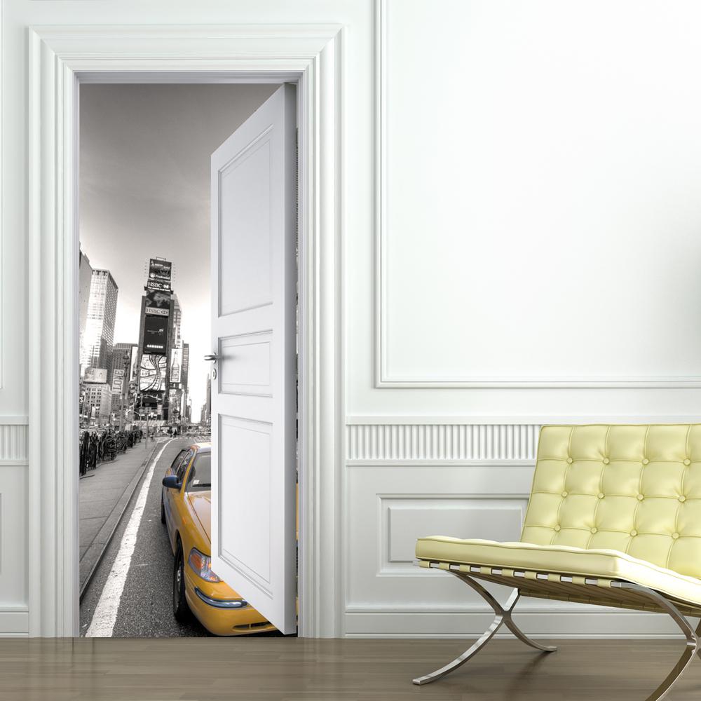 Adesivi follia adesivo per porte new york - Adesivi decorativi per porte ...