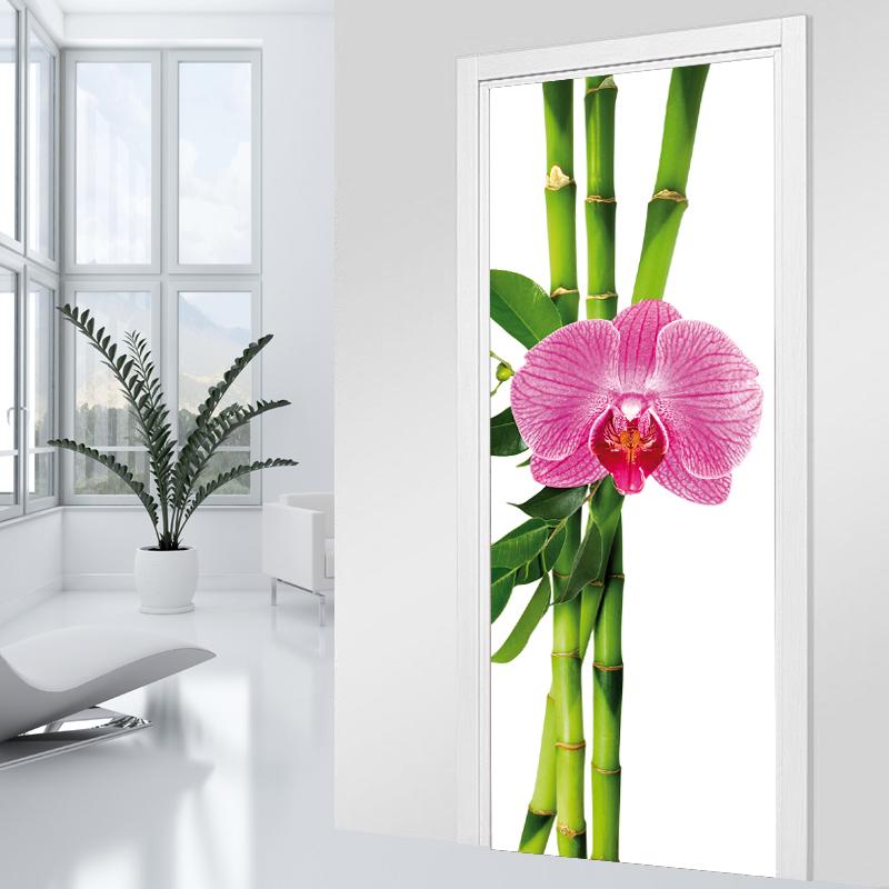 Adesivi follia adesivo per porte orchidea - Adesivi decorativi per porte ...