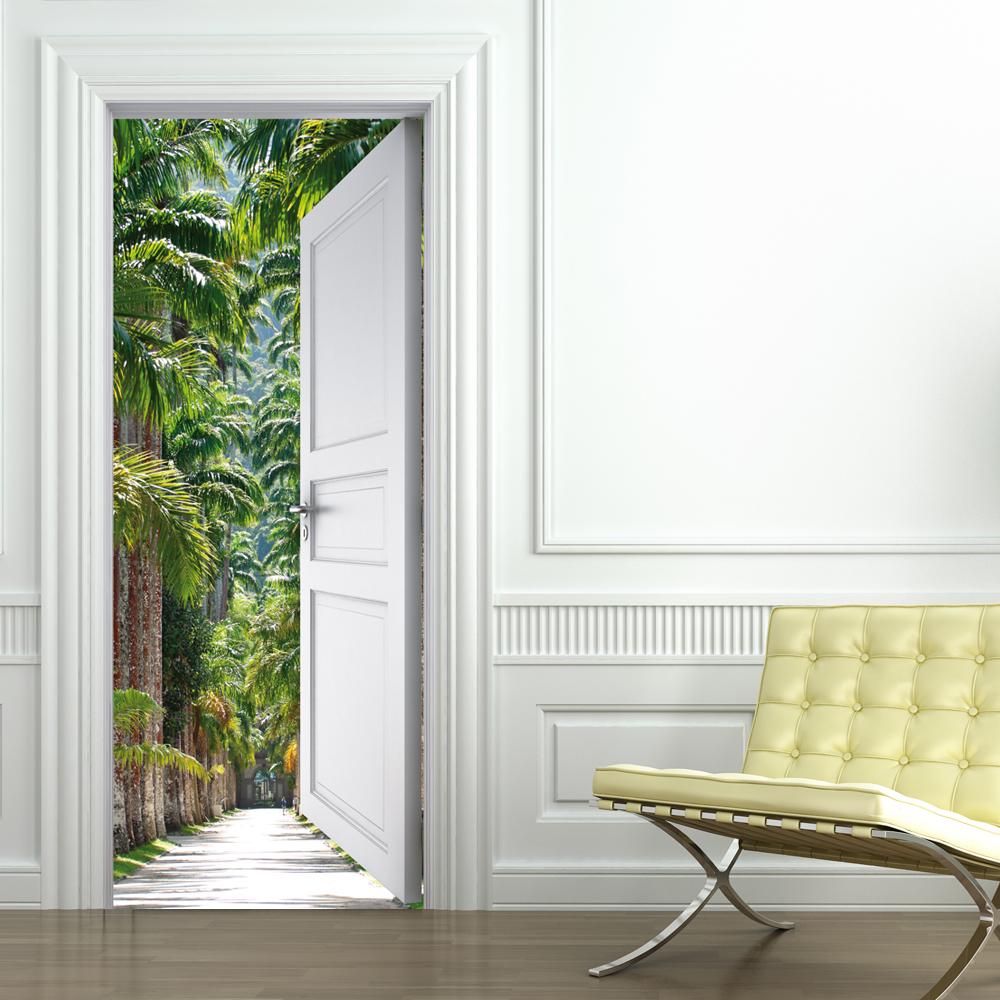 Adesivi follia adesivo per porte palme - Adesivi decorativi per porte ...