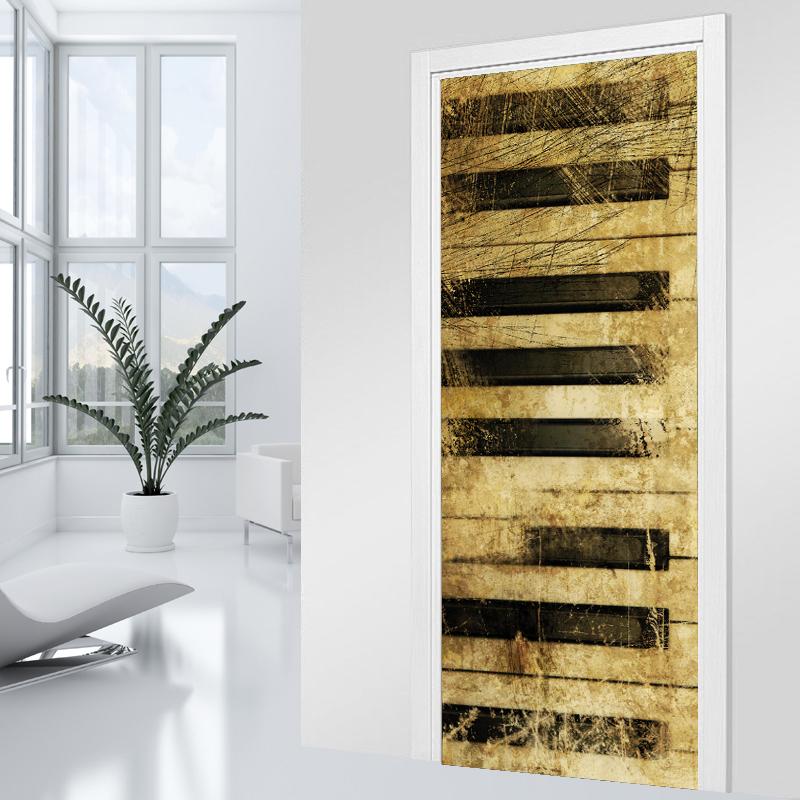 Adesivi follia adesivo per porte pianoforte - Adesivi decorativi per porte ...