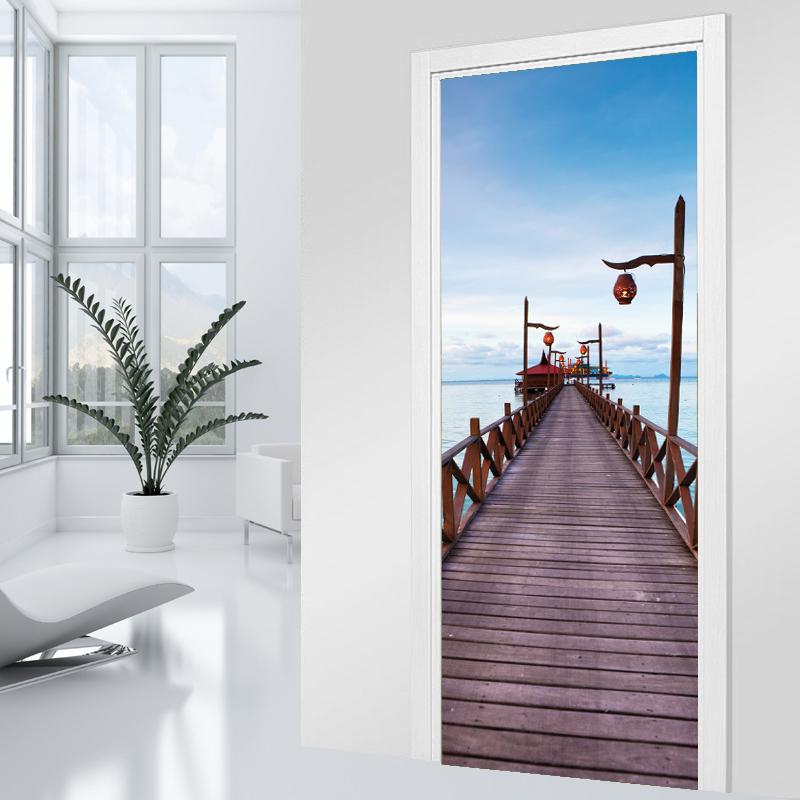 Adesivi follia adesivo per porte pontile - Adesivi decorativi per porte ...