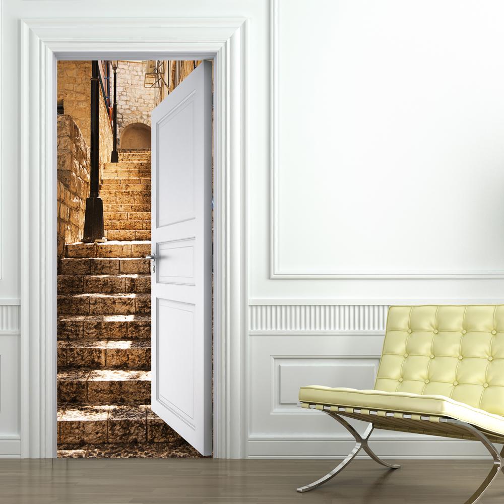 Adesivi follia adesivo per porte scala - Adesivi decorativi per porte ...