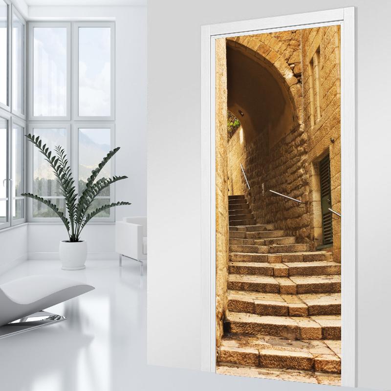 Adesivi follia adesivo per porte scala vicolo for Vecchi piani colonica con foto