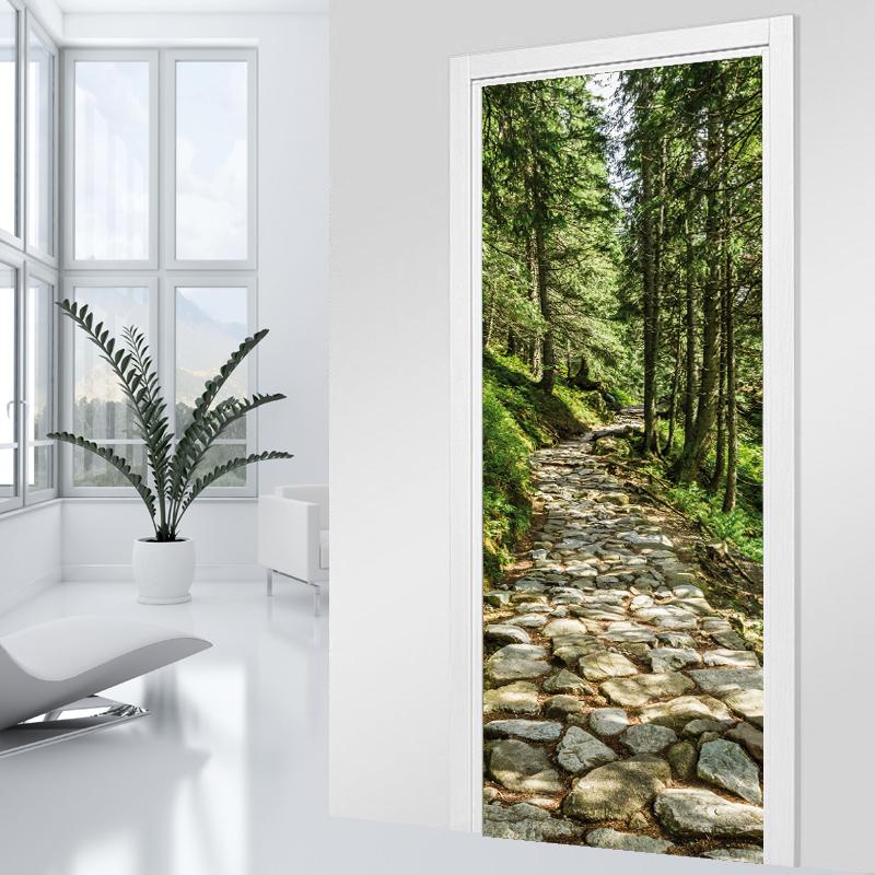 Adesivi follia adesivo per porte sentiero - Adesivi decorativi per porte ...