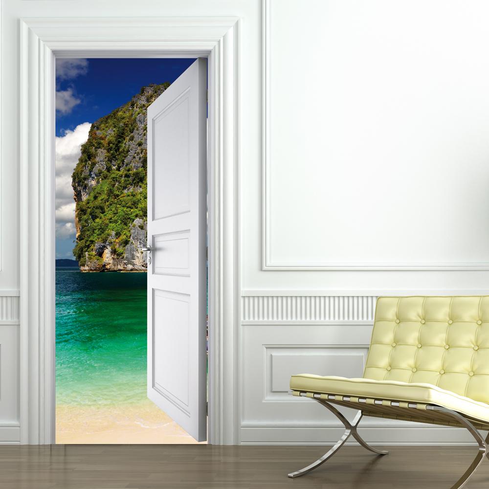 Adesivi follia adesivo per porte spiaggia - Adesivi decorativi per porte ...