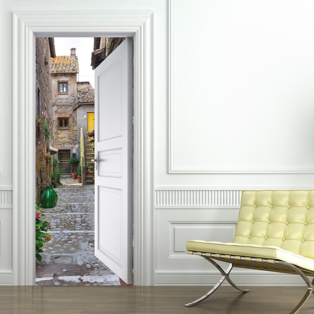Adesivi follia adesivo per porte vicolo - Adesivi decorativi per porte ...