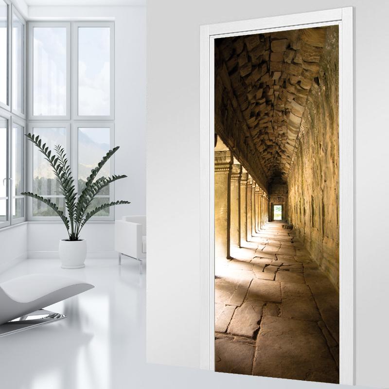 Adesivi follia adesivo per porte volta - Adesivi decorativi per porte ...