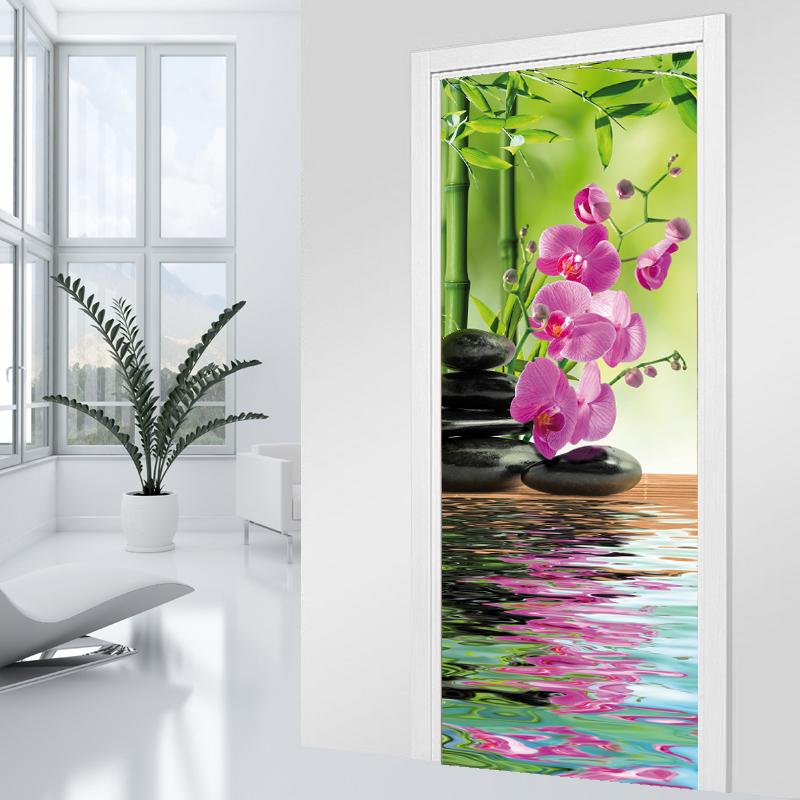 Adesivi follia adesivo per porte zen - Adesivi decorativi per porte ...