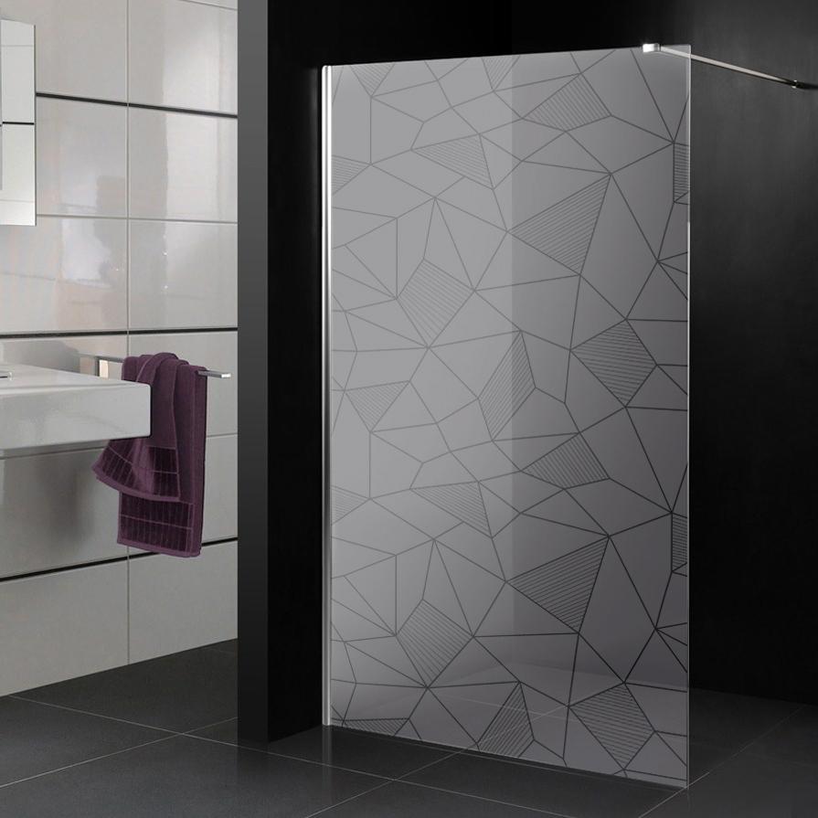 Adesivi follia adesivo sabbiato per box doccia mosaico for Adesivi per piastrelle doccia