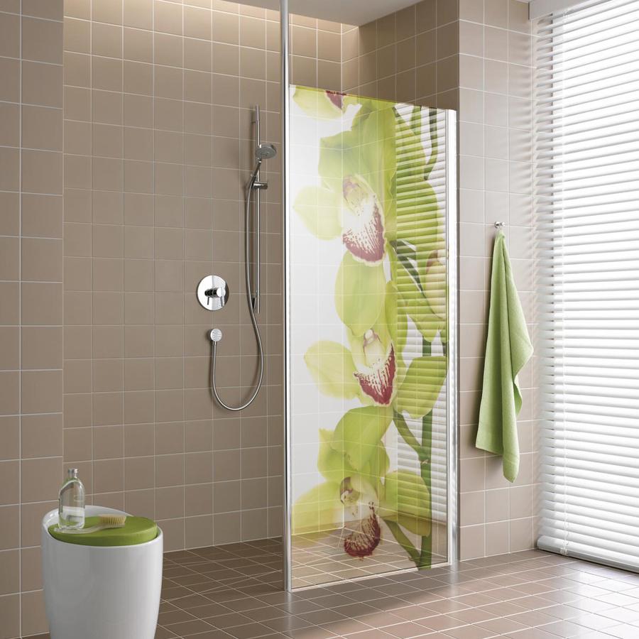Adesivi follia adesivo traslucido per box doccia orchidea for Adesivi per piastrelle doccia