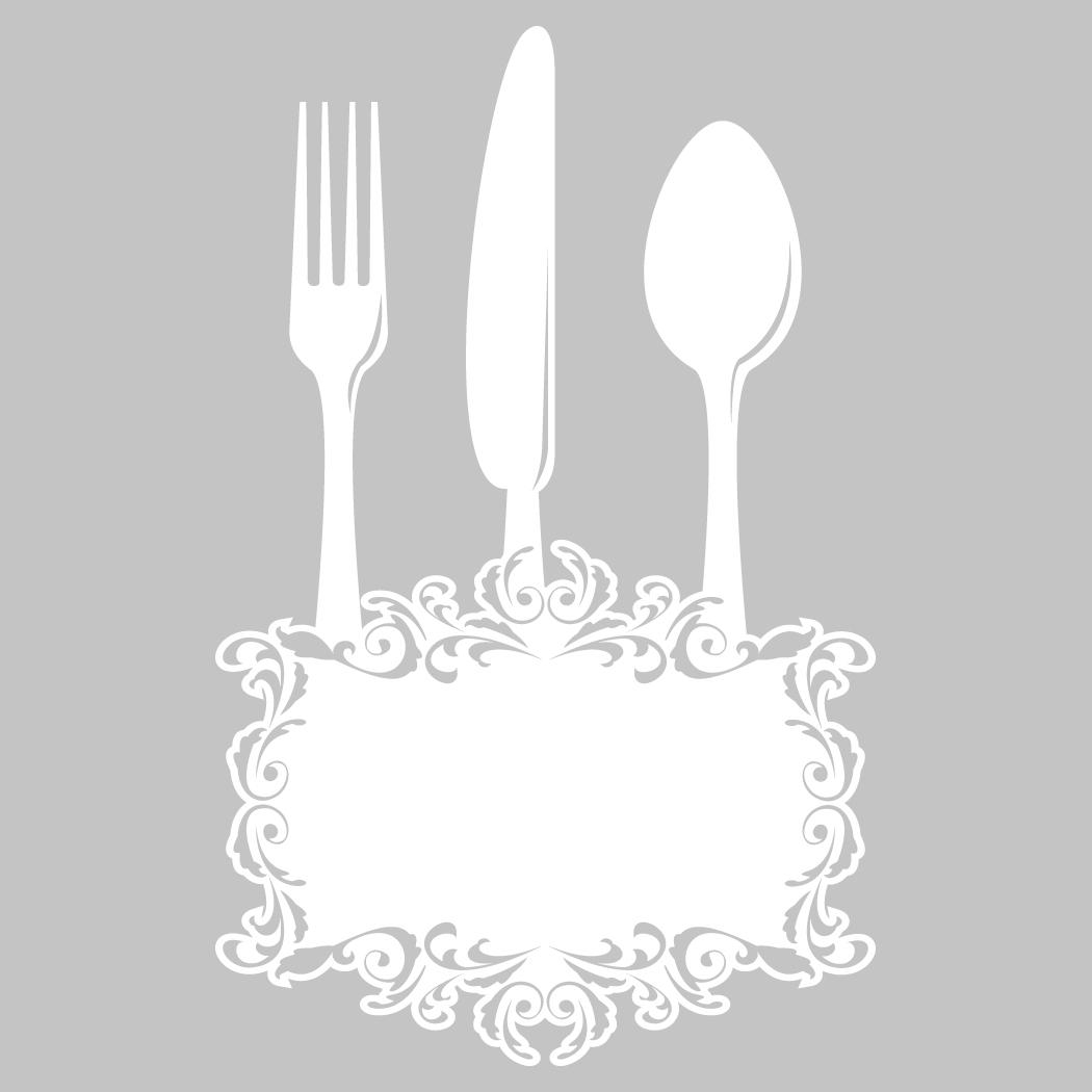 Adesivi follia adesivo velleda cucina posate for Paraschizzi adesivo cucina