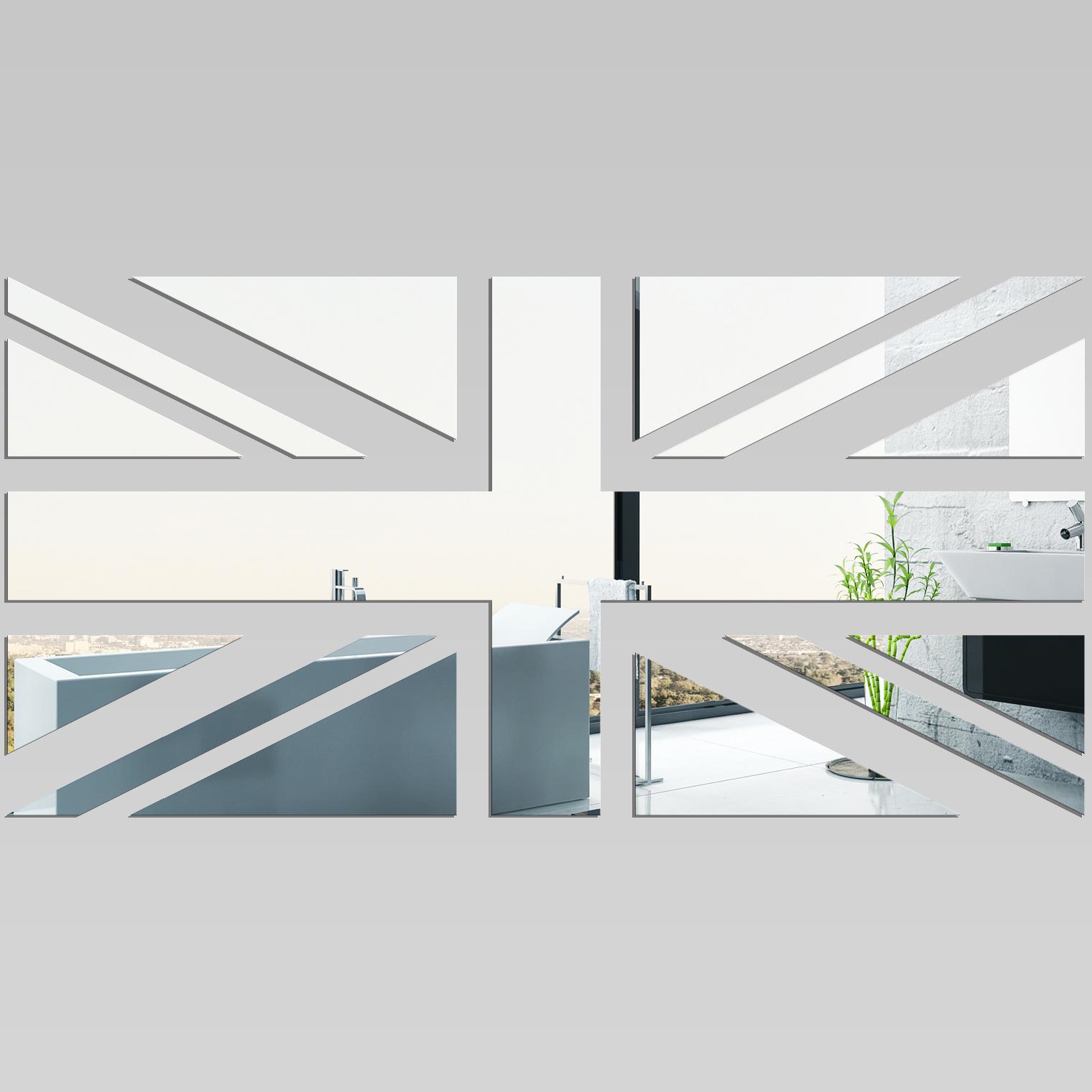 Adesivi follia specchio acrilico plexiglass bandiera for A specchio in inglese