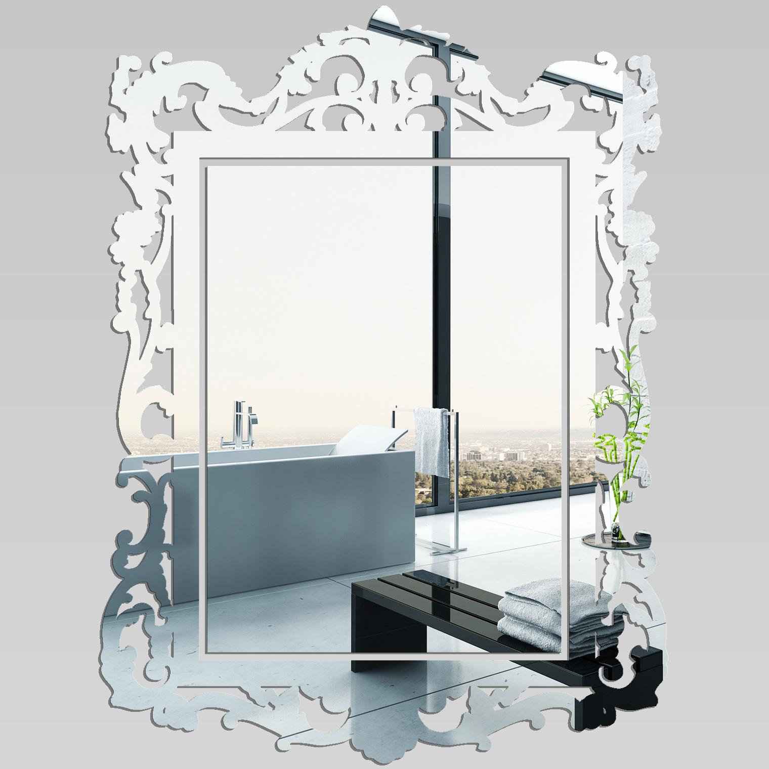 Adesivi follia : specchio acrilico plexiglass barocco