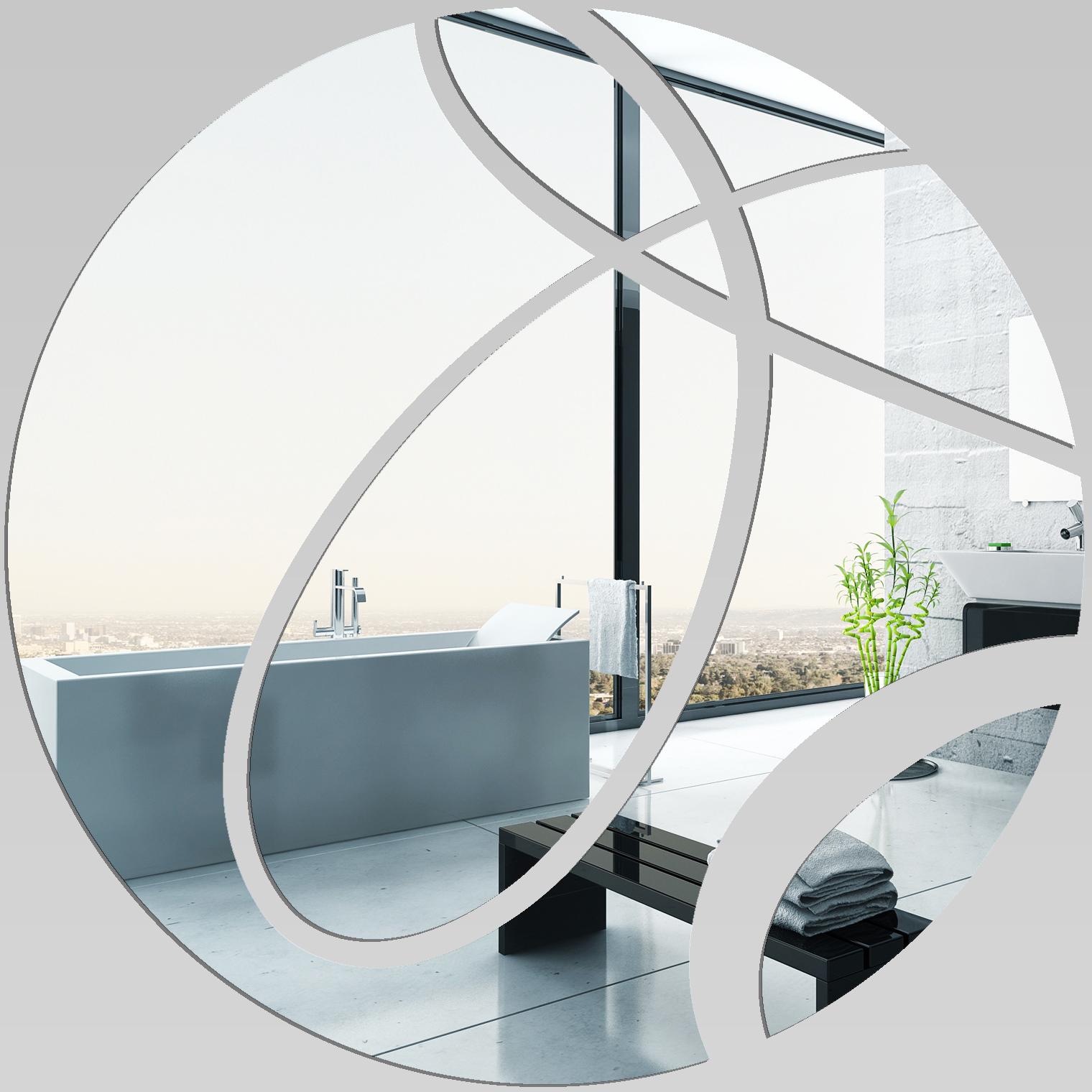 Adesivi follia specchio acrilico plexiglass cerchi - Plexiglass a specchio ...