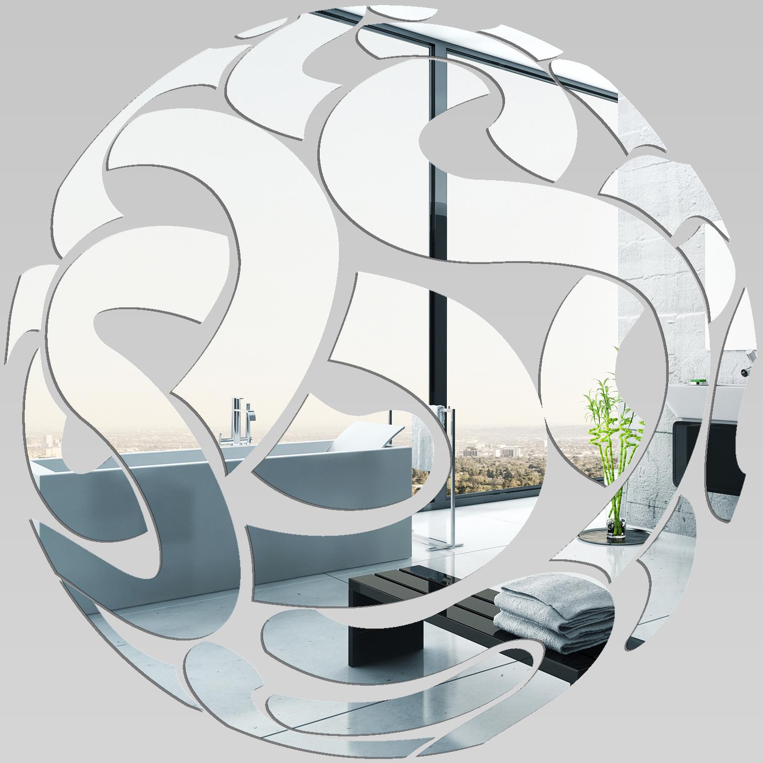 Adesivi Follia Specchio Acrilico Plexiglass Cerchi Design
