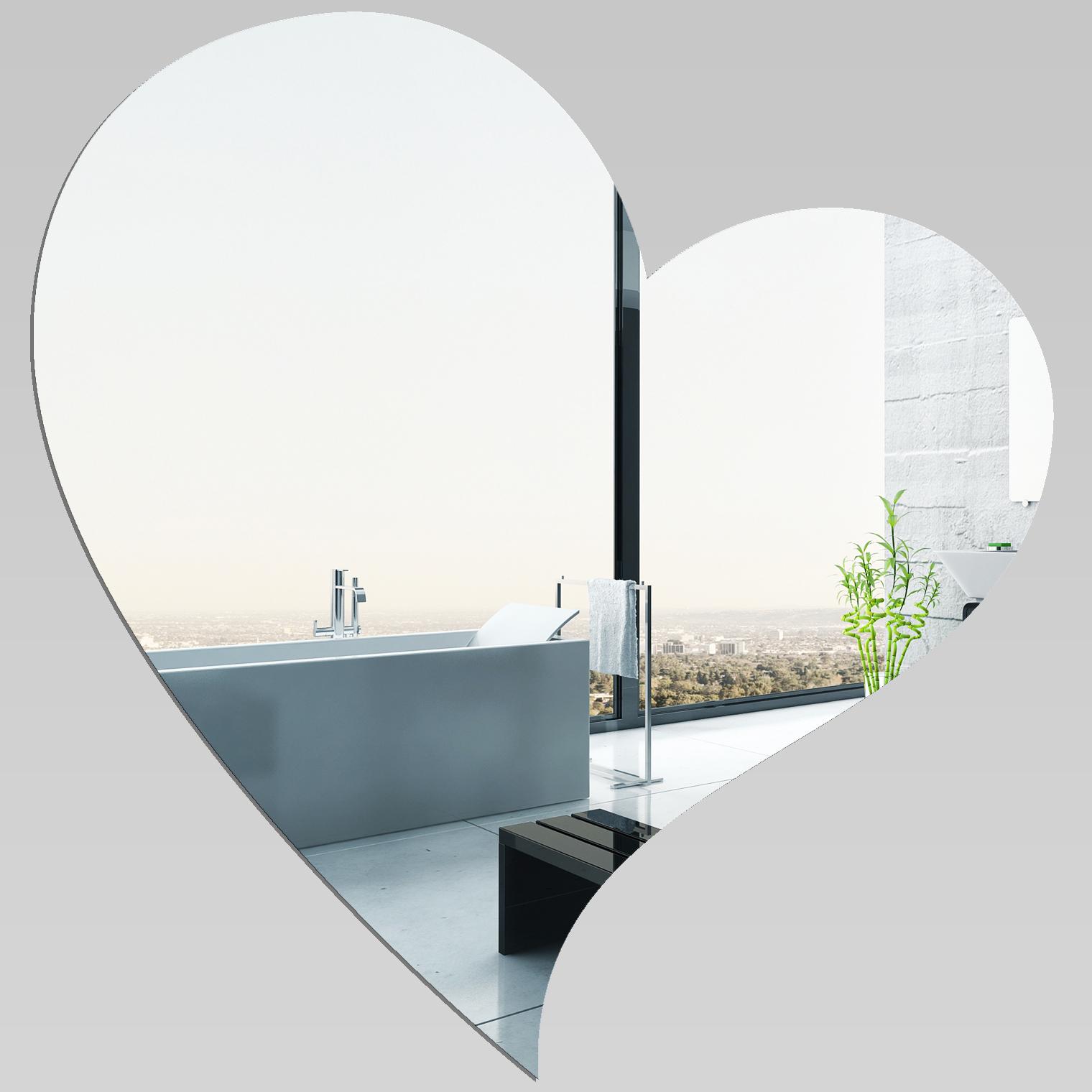 Adesivi follia specchio acrilico plexiglass cuore grande - Specchio adesivo ikea ...