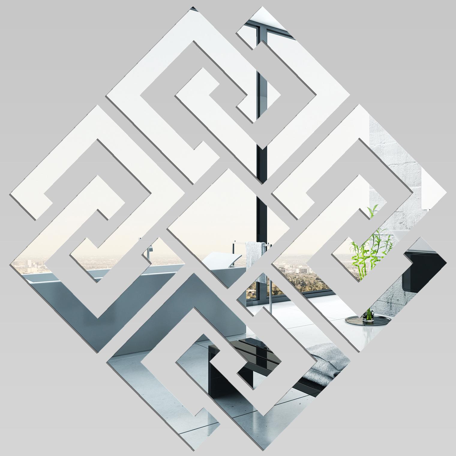 Adesivi follia specchio acrilico plexiglass design - Plexiglass a specchio ...