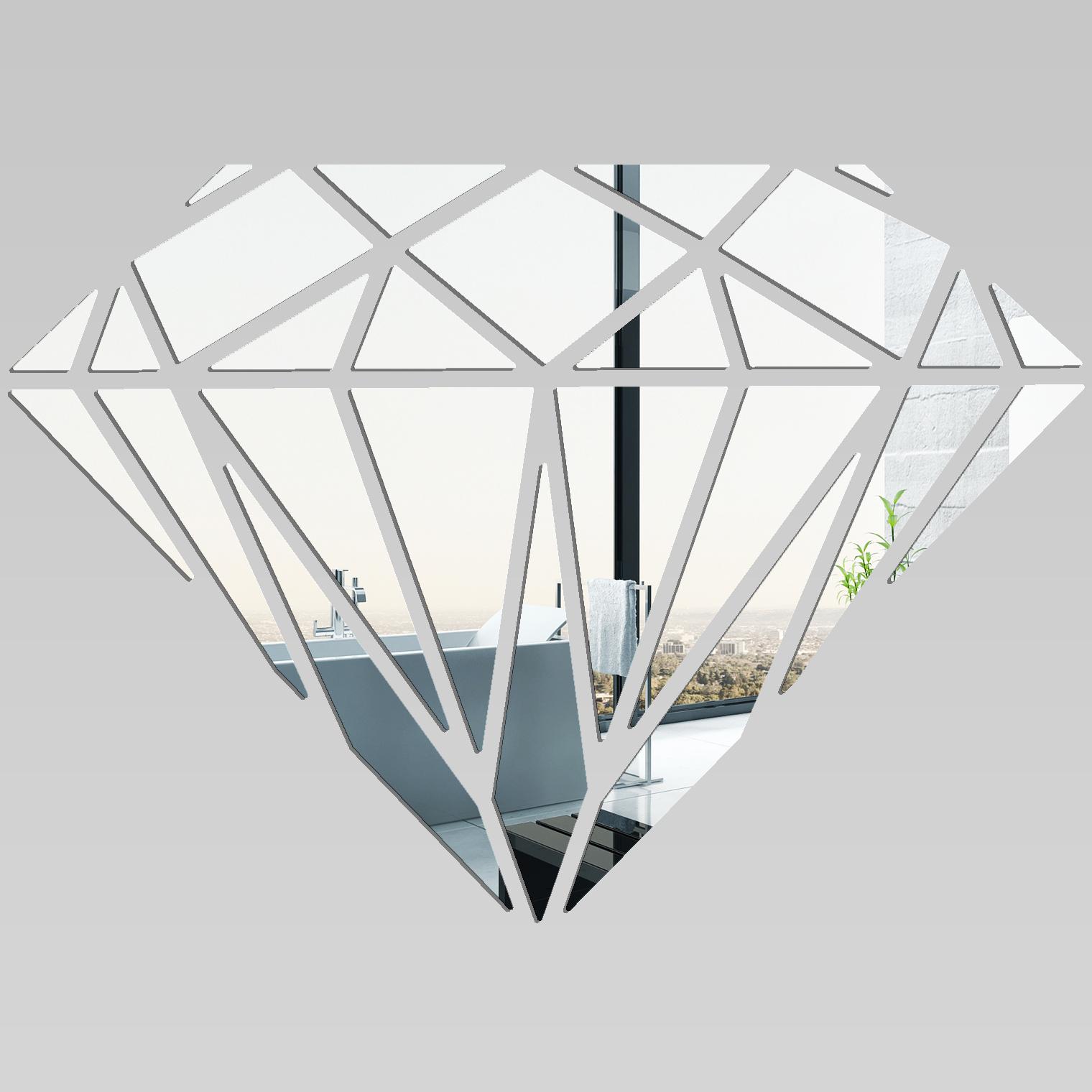 Adesivi follia specchio acrilico plexiglass diamante for Soggiorno a forma di diamante