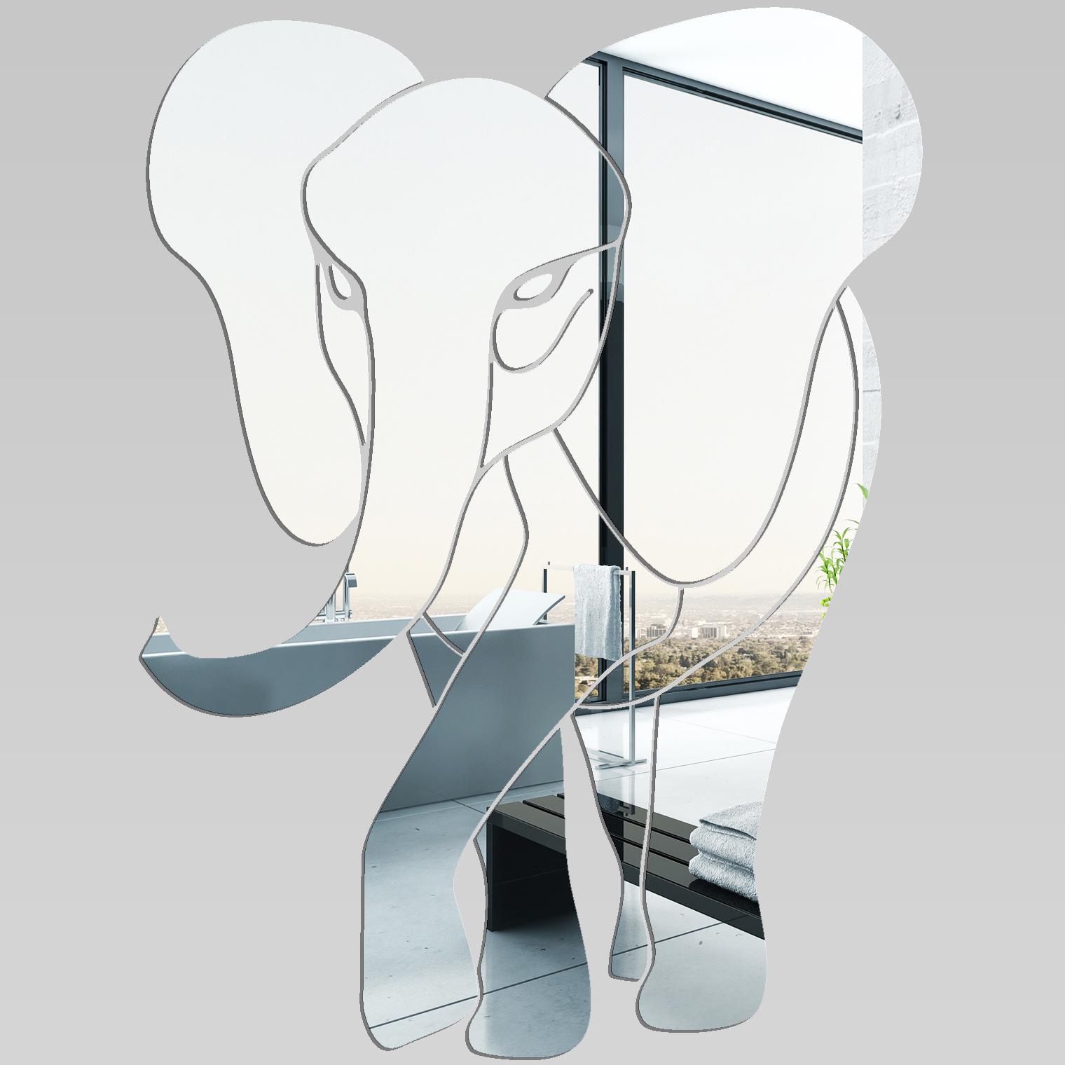 Adesivi follia specchio acrilico plexiglass elefante - Plexiglass a specchio ...