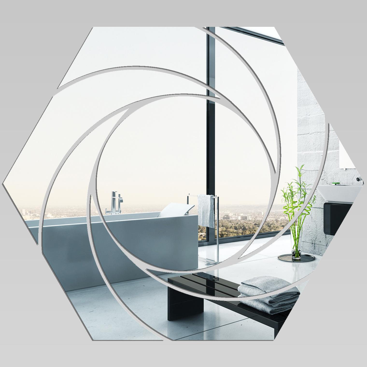 adesivi follia specchio acrilico plexiglass esagono