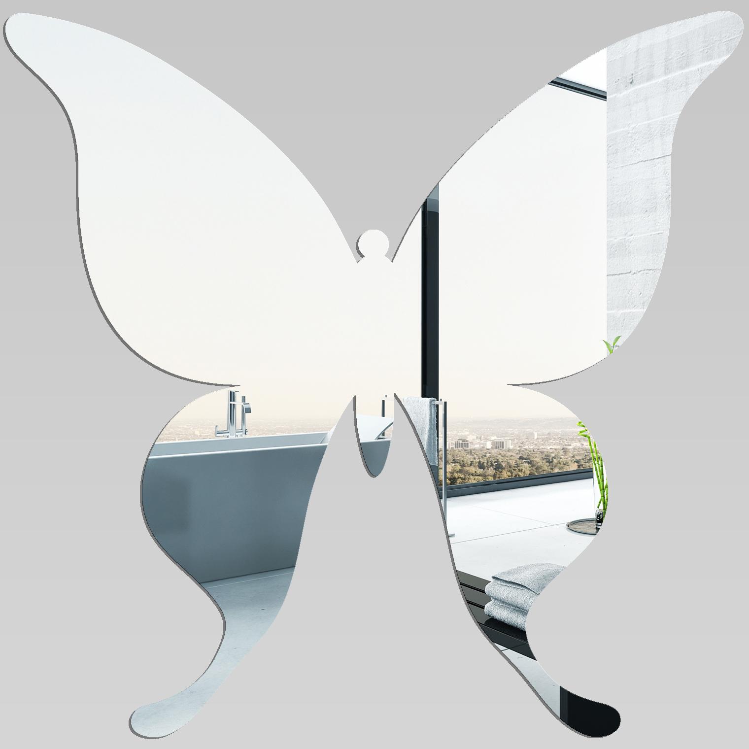 Adesivi follia specchio acrilico plexiglass farfalle - Plexiglass a specchio ...