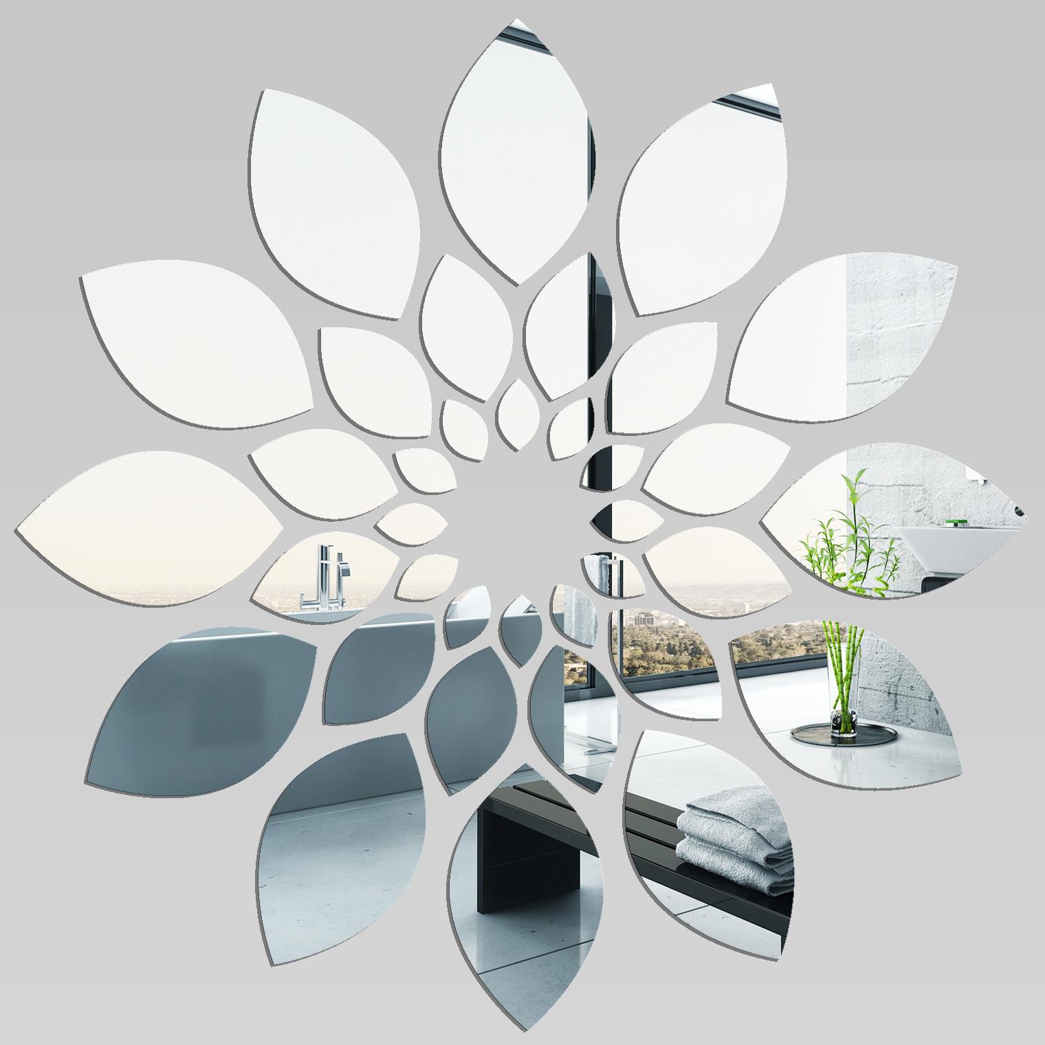 Adesivi Follia Specchio Acrilico Plexiglass Fiori