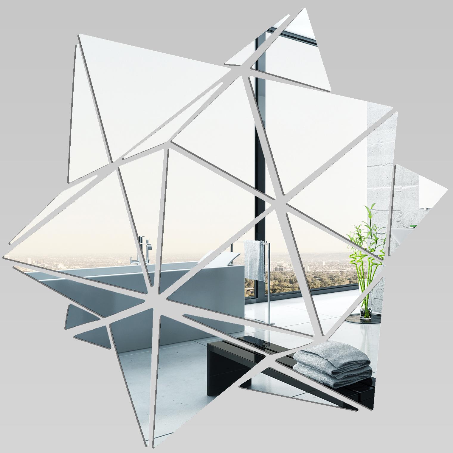 Adesivi Follia Specchio Acrilico Plexiglass Geometrico