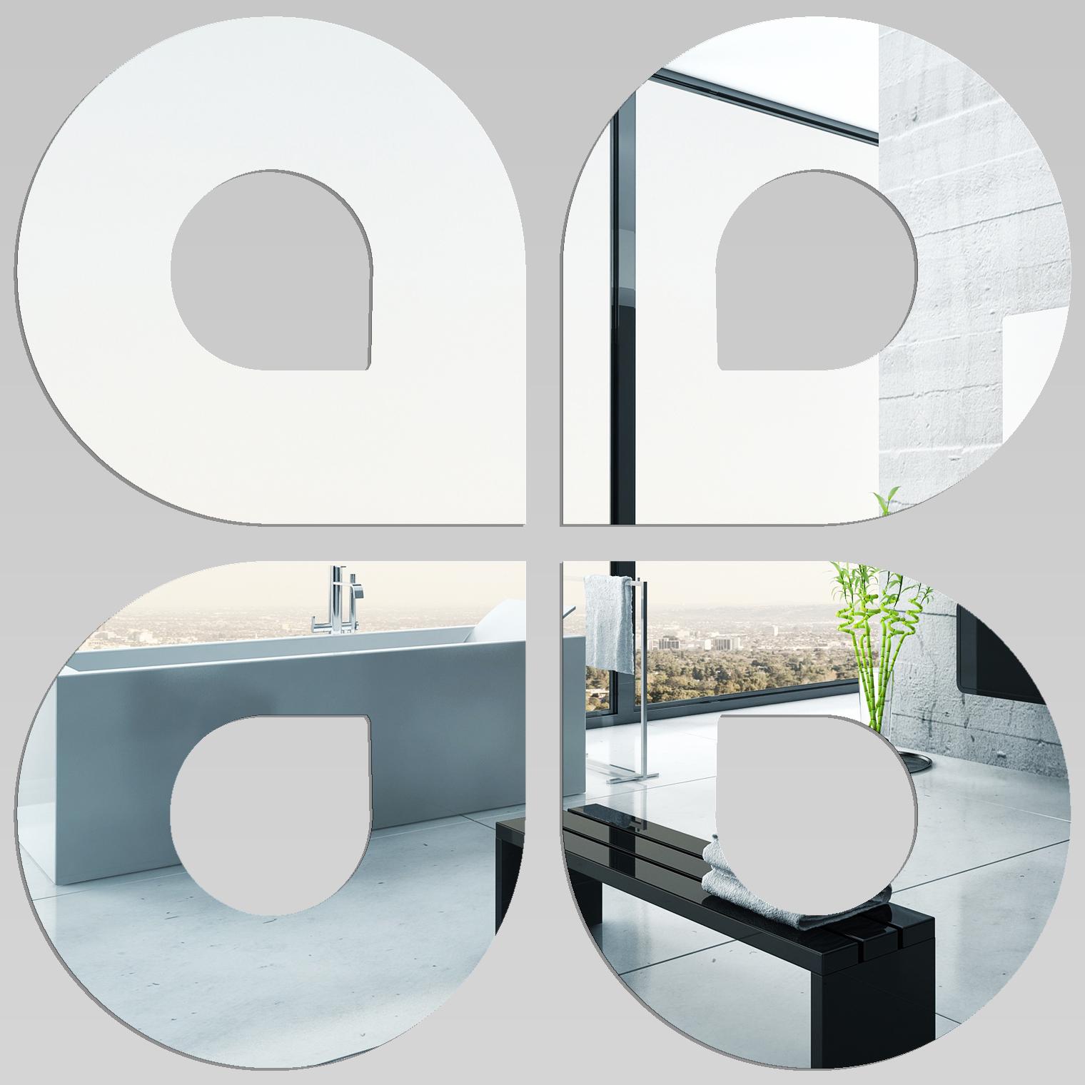 Adesivi Follia Specchio Acrilico Plexiglass Gocce