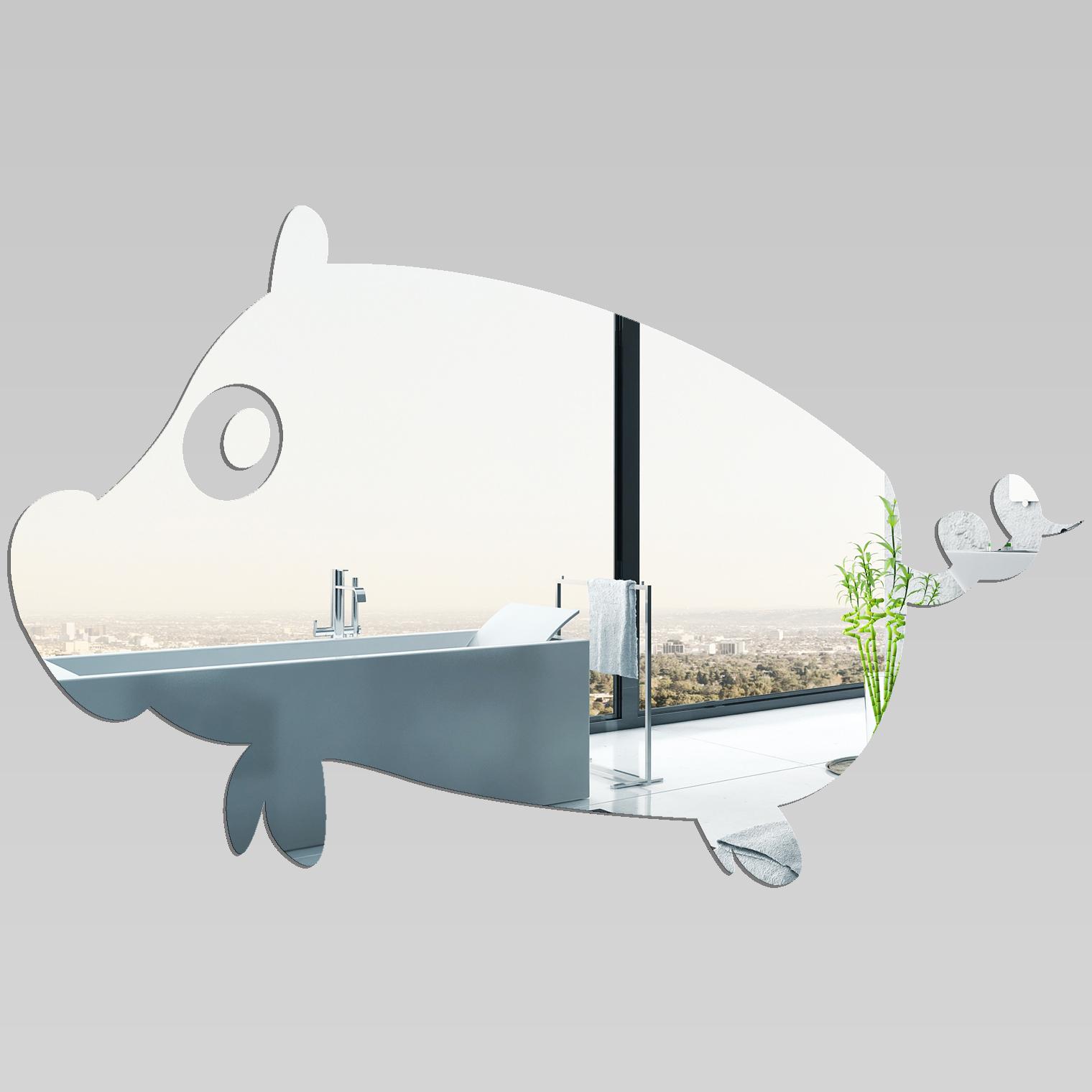 Adesivi follia specchio acrilico plexiglass maiale - Plexiglass a specchio ...