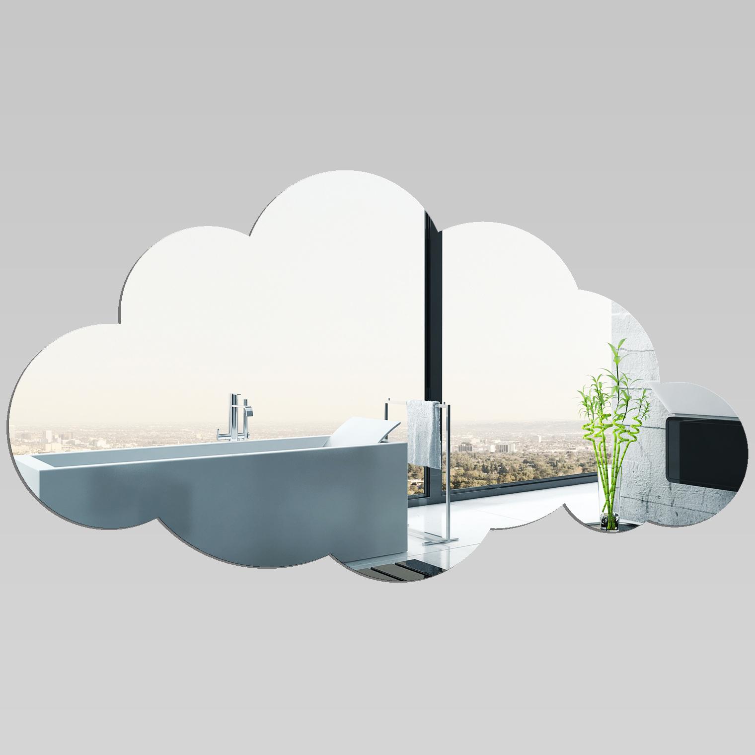 adesivi follia specchio acrilico plexiglass nuvola