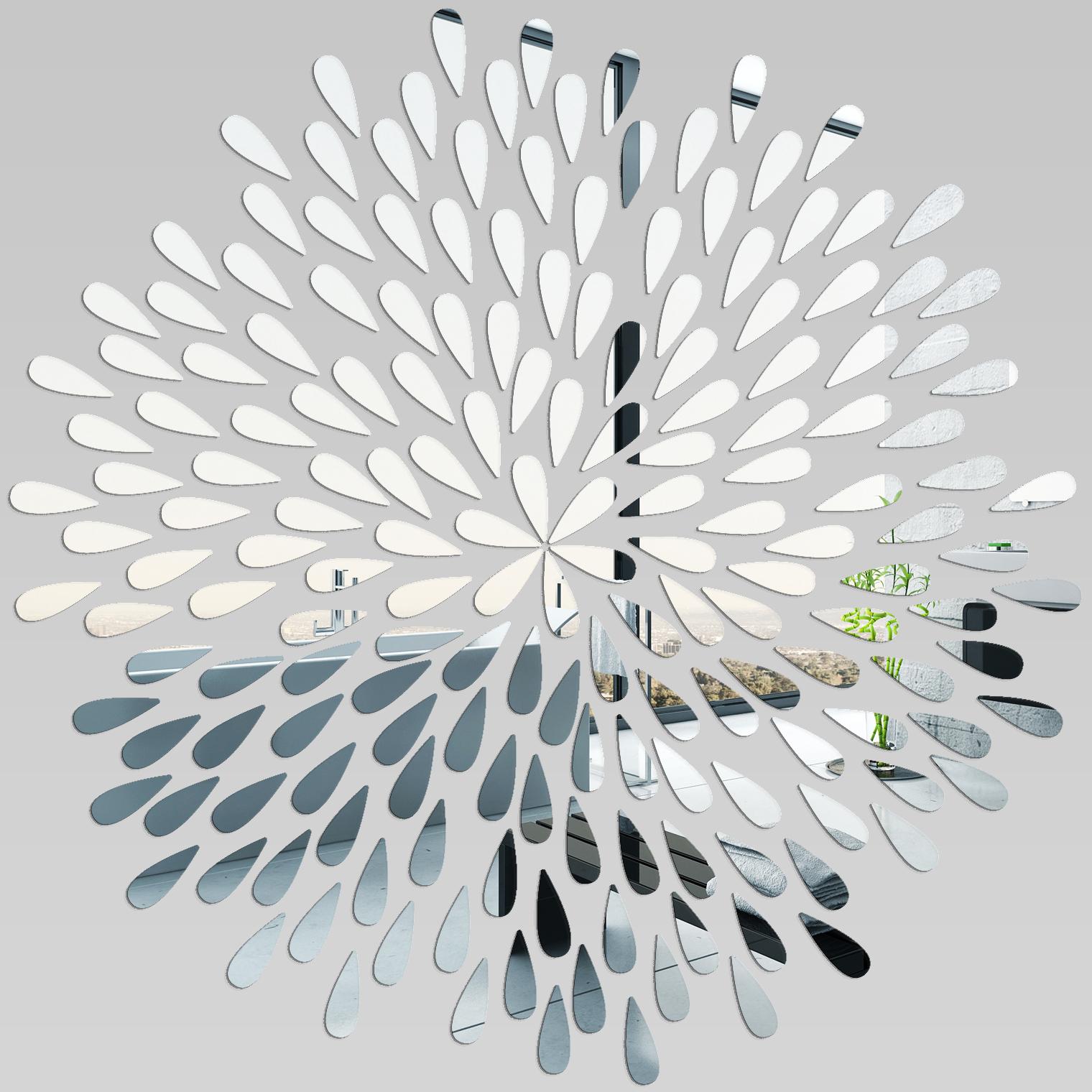 Adesivi Follia Specchio Acrilico Plexiglass Petali