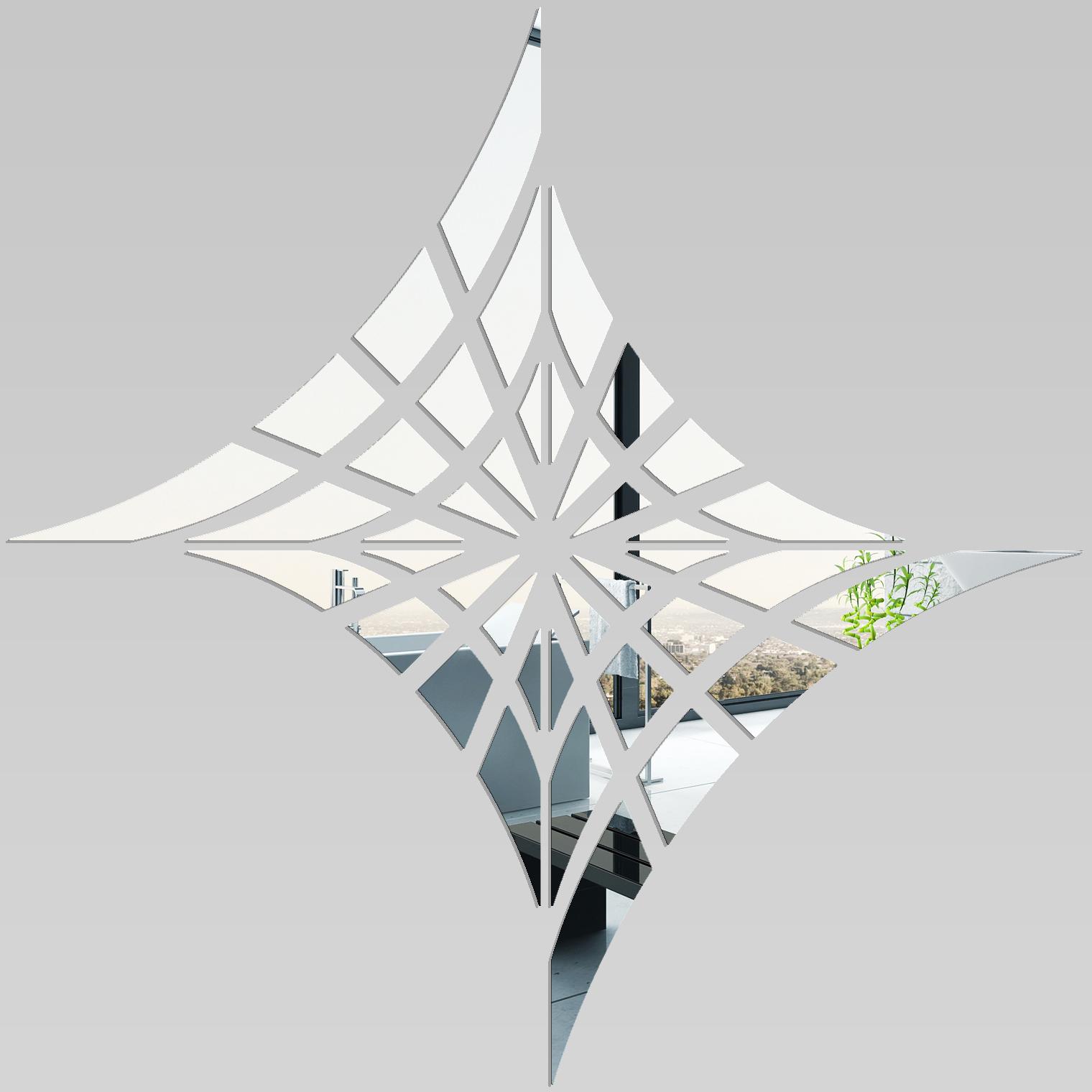 Adesivi Follia Specchio Acrilico Plexiglass Ragnatela