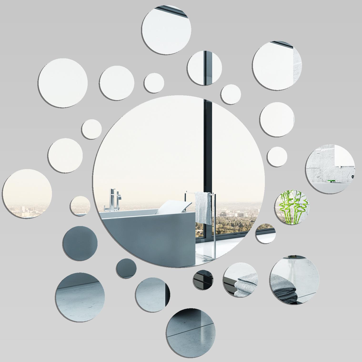 Adesivi follia specchio acrilico plexiglass spirale for Modelos de espejos decorativos