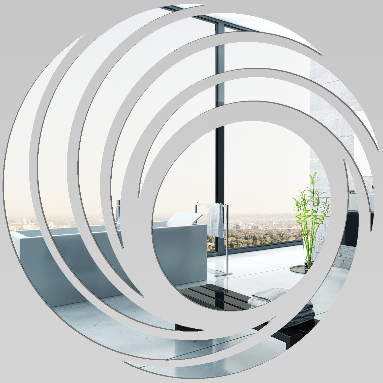 Adesivi follia specchio acrilico plexiglass spirali design - Plexiglass a specchio ...
