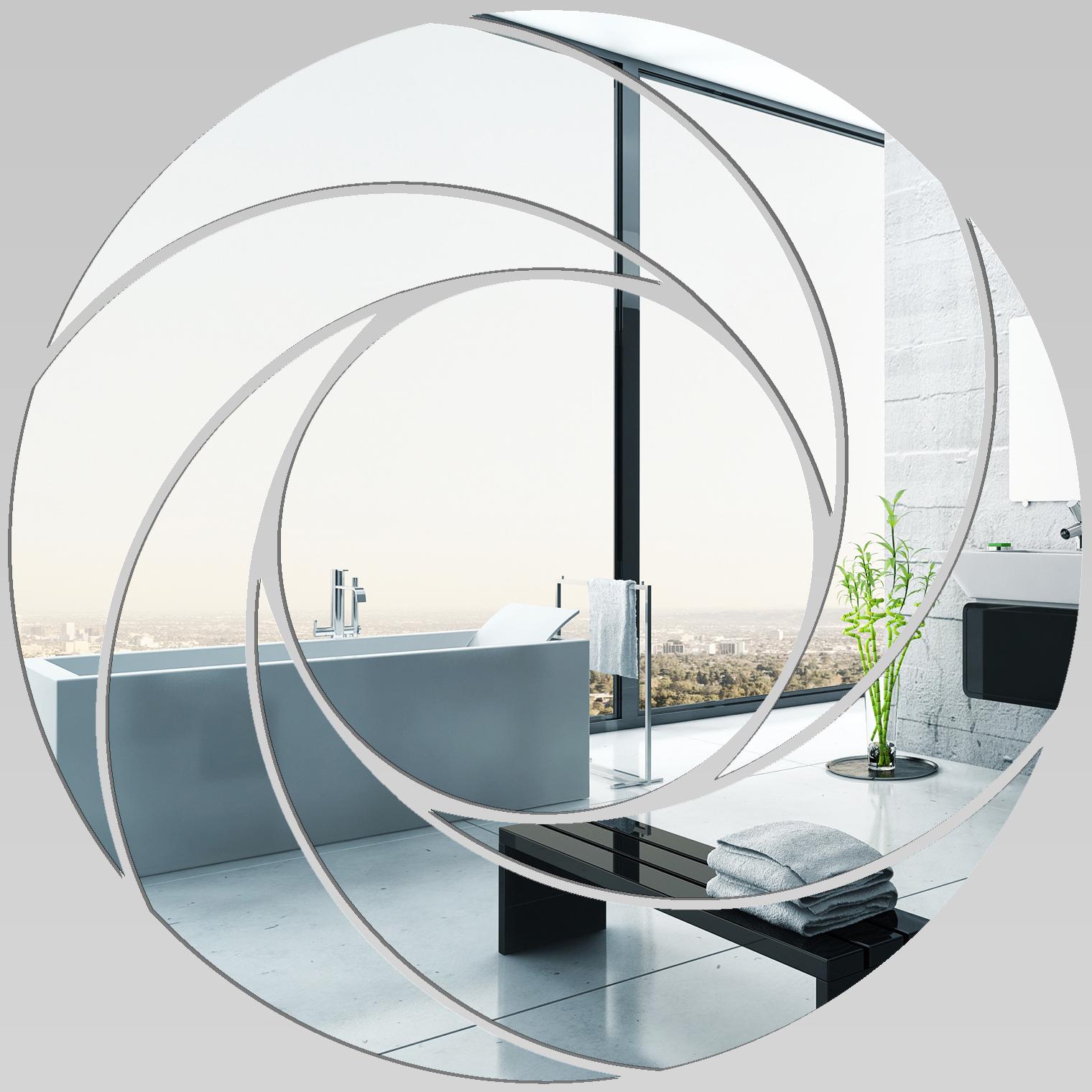 Adesivi Follia Specchio Acrilico Plexiglass Spirali Design