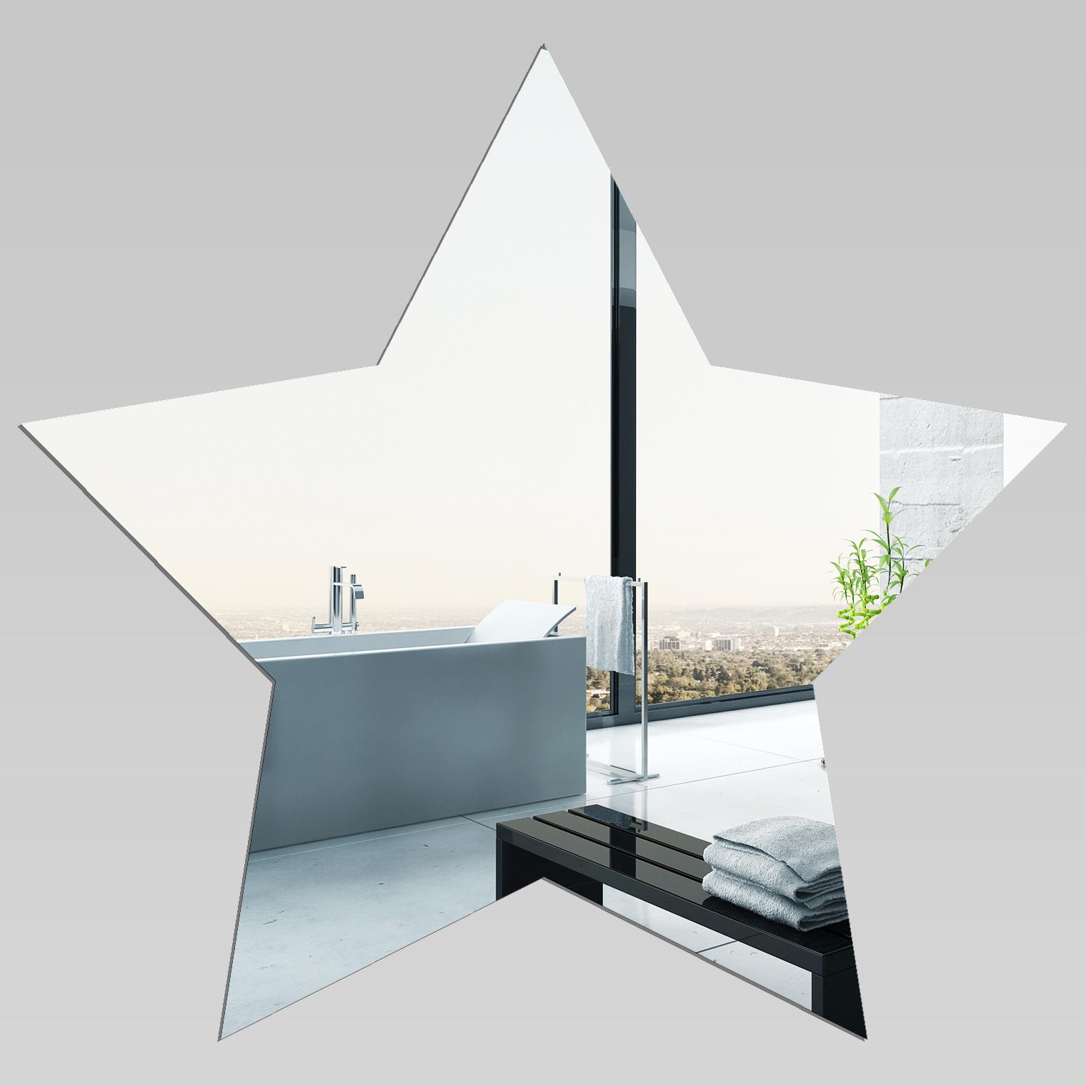 Adesivi follia specchio acrilico plexiglass stella - Plexiglass a specchio ...
