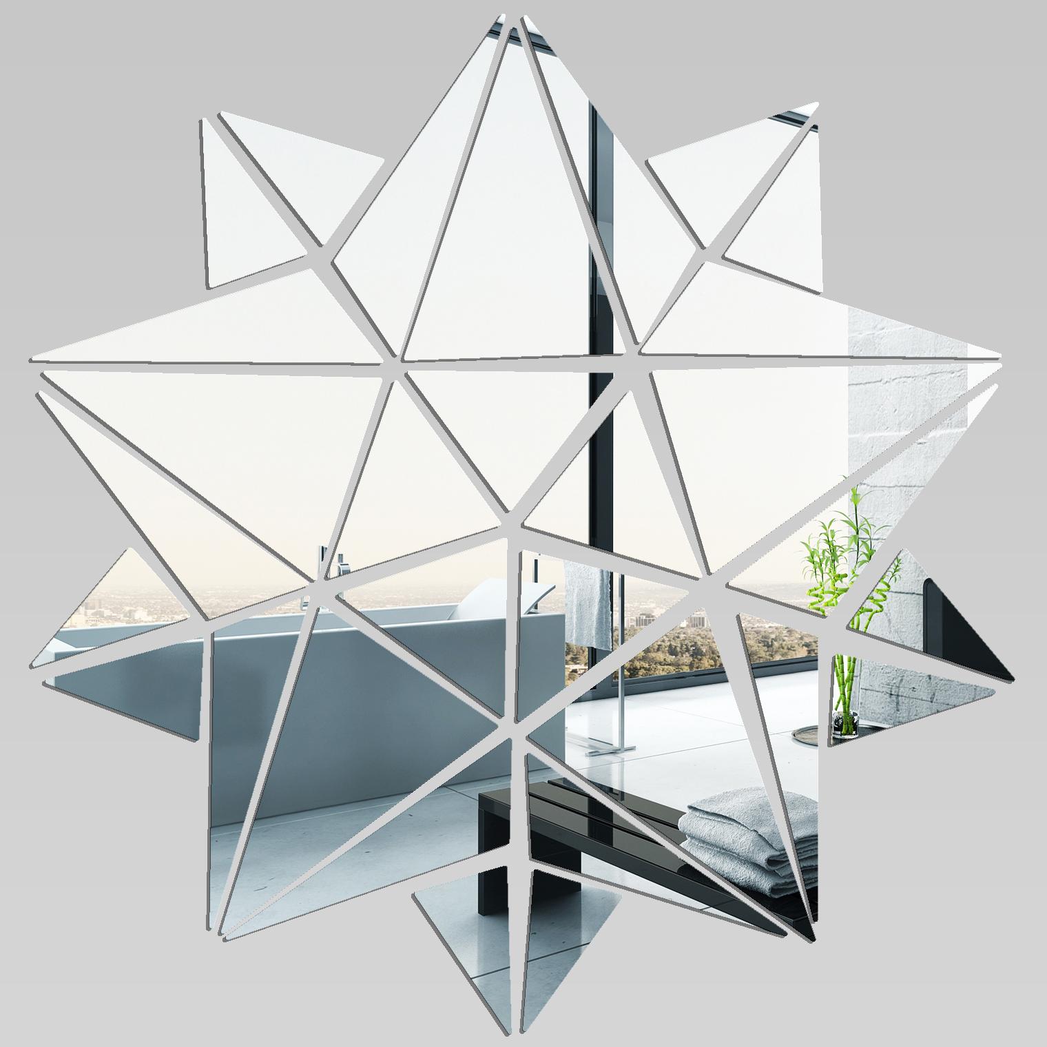 Adesivi follia specchio acrilico plexiglass stelle mosaico - Plexiglass a specchio ...