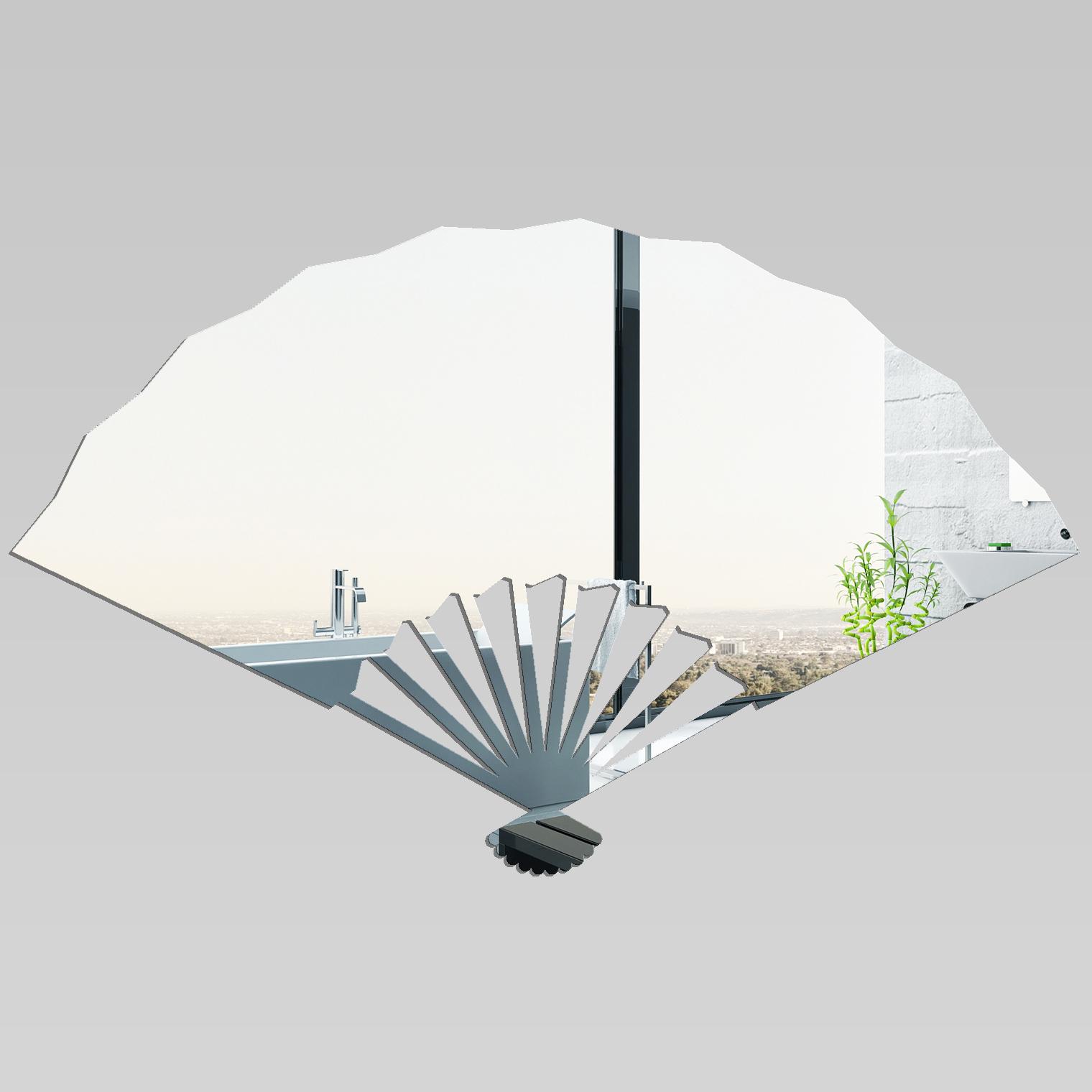 Ventagli Da Parete Decorativi adesivi follia : specchio acrilico plexiglass - ventaglio