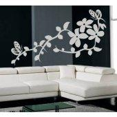 adesivi follia adesivo murale fiore farfalla